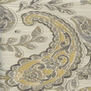 Linville Granite Gray Paisley Upholstery Fabric 48495