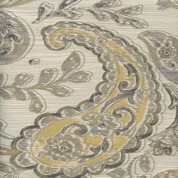 Linville Granite Gray Paisley Upholstery Fabric - 48495 | Buyfabrics.com