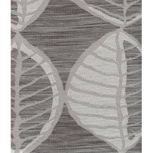Folio Charcoal Gray Leaf Upholstery Fabric