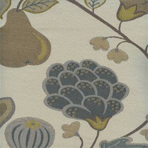 Eden Tundra Blue Floral and Fruit Upholstery Fabric