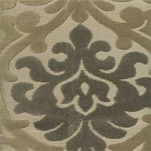 Denmark Taupe Tan Fleur Des Lis Chenille Upholstery Fabric