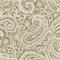 Paisley Beige Drapery Fabric 6 Yard Piece