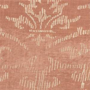 Decor Coral Pink Floral Linen Blend Drapery Fabric