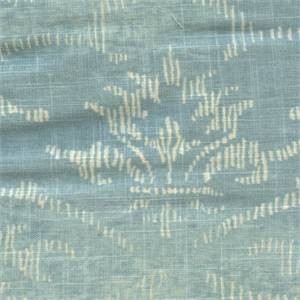 Decor DuckEgg Blue Floral Linen Blend Drapery Fabric