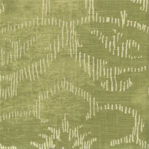 Decor Green Floral Linen Blend Drapery Fabric