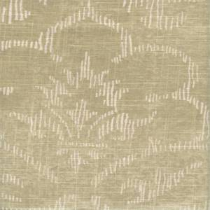 Decor Ivory Tan Floral Contemporary Linen Blend Drapery Fabric