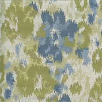 Lido Surf Blue Green Ikat Upholstery Fabric