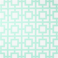 Fancy Mint Green Cotton Twill Geometric Print Drapery Fabric Swatch
