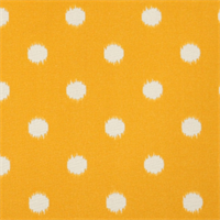Ikat Dots Citrus Yellow Outdoor by Premier Prints - Drapery Fabric Swatch