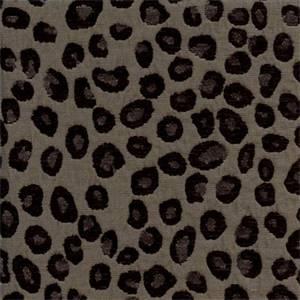 Cheetah Steel Grey Chenille Animal Print Upholstery Fabric - 48577 ... 642e39261