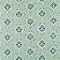 Jumana Sea Green Contemporary Drapery Fabric by Duralee Swatch