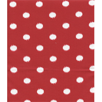 Outdoor Ikat Dots Rojo Red Fabric by Premier Prints