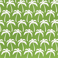 Outdoor Palms Bay Green Fabric by Premier Prints