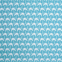 Outdoor Palms Ocean Blue Fabric by Premier Prints Swatch