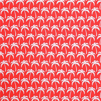 Outdoor Palms Calypso Red Floral Print Fabric by Premier Prints