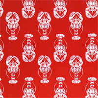 Outdoor Lobster Rojo Red Fabric by Premier Prints Swatch