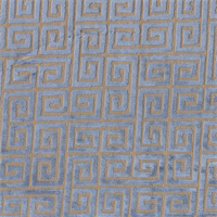Greek Key Slate Blue Grey Chenille Contemporary Upholstery Fabric Swatch