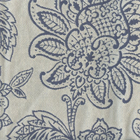 Belinda Blue Sky Floral Upholstery Fabric Swatch