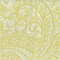 Easy Breezy Citrus Green Paisley Upholstery Fabric Swatch