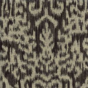 Aztec Onyx Black Ikat Contemporary Upholstery Fabric Swatch