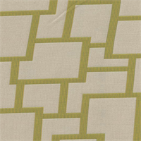 Sunbrella FF 45799-0000 Natural Green Geometric Outdoor Fabric