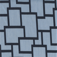 Sunbrella FF 45799-0004 Blue Geometric Outdoor Fabric  3 Yard Piece.