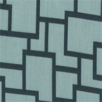 Sunbrella FF 45799-0003 Teal Green Geometric Outdoor Fabric 4 Yard Piece