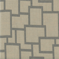 Sunbrella FF 45799-0002 Natural Gray Geometric Outdoor Fabric 5.75 Yard Piece