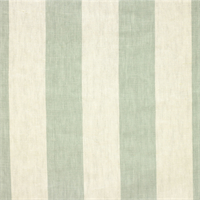 Stripe Spa Green Linen Drapery Fabric 2 Yard Piece