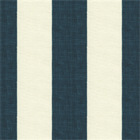 Stripe Navy Blue Linen Drapery Fabric 2 Yard Piece