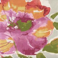 Malindi Floral Blossom Slub Drapery Fabric by P Kaufmann