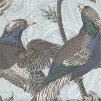 Pheasant Hunt Spa-NC14 Floral Drapery Fabric by P Kaufmann