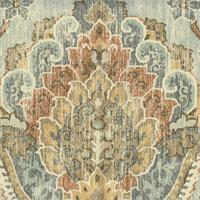 Plazzo Breeze Blue Paisley Drapery Fabric by P Kaufmann