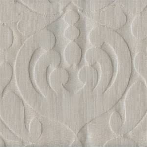 Grace Vapor Grey Floral Embossed Drapery Fabric by P Kaufmann Swatch