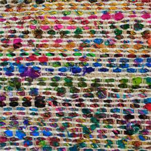 Homespun Mardi Gras Multi Color Woven Silk Upholstery Fabric by P Kaufmann Swatch