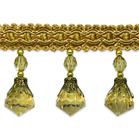 IR6904 GLM Gold Multi Beaded Trim
