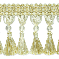 IR6891 DLC Ivory Light Gold Tassel Trim