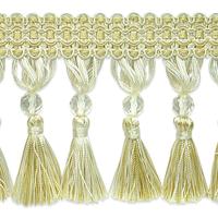 IR6891 DLC Ivory Light Gold Tassel Trim