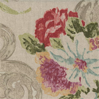 Ashmont Putty Brown Floral Drapery Fabric by P Kaufmann Swatch