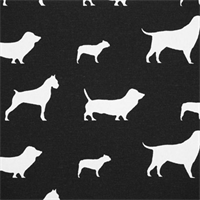 Best Friends Black/White by Premier Prints - Drapery Fabric