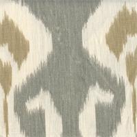 Ocean Sand Dune Grey Ikat Drapery Fabric Swatch