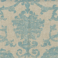 Jack Ice Blue Floral Drapery Fabric Swatch