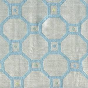 Ferris Wheel Seaglass Blue Contemporary Faux Silk Fabric Swatch