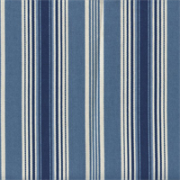 Rodeo Drive Indigo Stripe Drapery Fabric Swatch