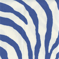 Under My Skin Pool Blue Animal Print Outdoor Fabric Swatch