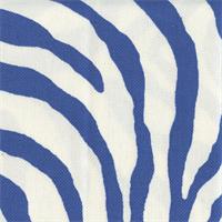 Under My Skin Pool Blue Animal Print Outdoor Fabric Swatch