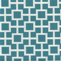 Baja Lattice Lagoon Blue Contemporary Outdoor Fabric Swatch