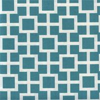 Baja Lattice Lagoon Blue Contemporary Outdoor Fabric Swatch