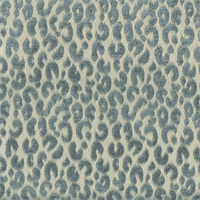 Tanzia Teal Blue Animal Design Drapery Fabric