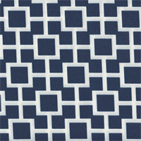 Baja Lattice Navy Blue Contemporary Outdoor Fabric Swatch